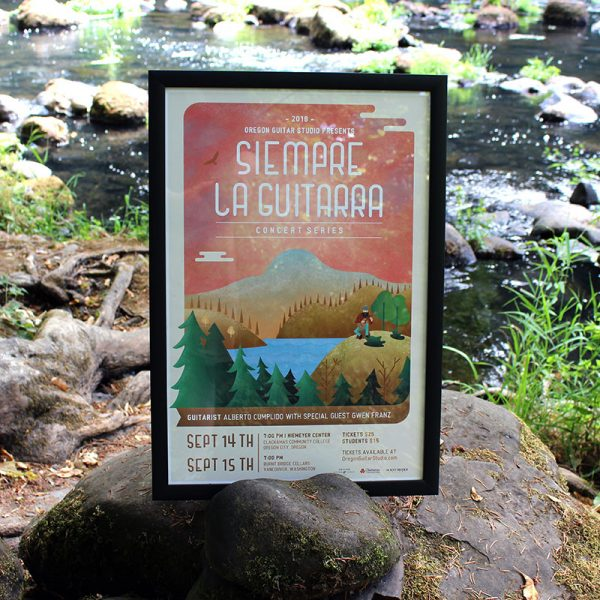 Siempre La Guitarra Event Poster featuring Alberto Cumplido and Gwen Franz